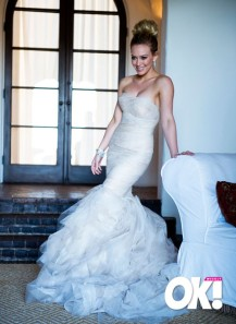 Hilary Duff Wedding Dress from OK Magazine