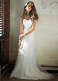 David's Bridal Empire Style Wedding Dress