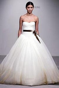 Vera Wang Ball Gown for Pear Shaped Brides